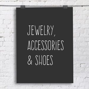 Jewelry, accessories, & shoes